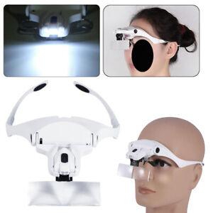 5 Lens Headset Magnifying Glass LED Lamp for Eyelash Extension Microblading Best