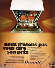 Publicité Advertising 1972 Le Lave Vaisselle Brandt