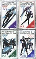 DDR 3140-3143 (kompl.Ausgabe) postfrisch 1988 Winterolympiade