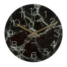 Karlsson marmo vetro da parete & Pavimento Orologio nero piccoli