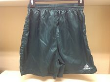 Vintage Adidas Soccer Shorts Forest Green Small Nylon Retro Running