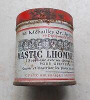 Boite ancienne métal Mastic Lhomme Lefort Guérir cicatriser les plaies Arbres
