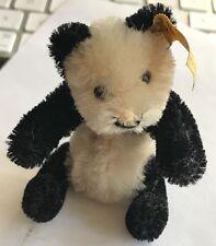 "❤️STEIFF RARE MINIATURE PANDA TEDDY BEAR + STEIFF BOX MINI 4"" 0250/11 1968 -72❤️"