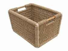 MANOR RUSHDEN WICKER SQUARE FIRESIDE LOG BASKET STRONG CARRIER - 1336