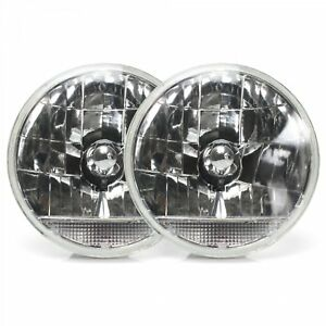 "Snake-Eye 7"" Inch Lens Assembly with Clear Turn Signal  Pair"