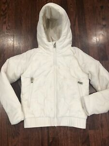 NWT$130 The North Face Youth Girl's Mashup Full-Zip Jacket White Size M (10/12)