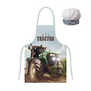 Traktor Kinder-schürze Kochschürze Backschürze Bastelschürze Trecker Bauernhof