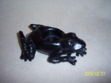 Black Frog Votive Candle Holder