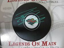 Thomas Vanek Minnesota Wild Signed Autographed Logo Puck With LOM COA