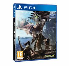 MONSTER HUNTER WORLD PS4 ITALIANO VIDEOGIOCO PLAY STATION 4 GIOCO UFFICIALE