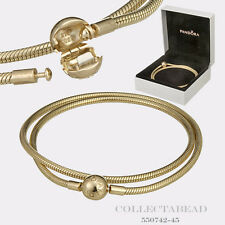 Authentic Pandora 14K Gold Moments Necklace with Hinged Box 45cm 550742-45