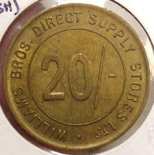 Merchant Token, Williams Brothers Direct Supply Stores, 20 Shillings, Britain