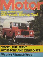 Motor 6/12/1980 featuring Land Rover, Jeep, Portaro, Range Rover, Alfa Romeo