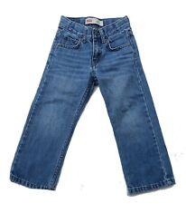 Boys Levis Jeans Size 3T Blue Denim Pants 514 Straight Medium Wash