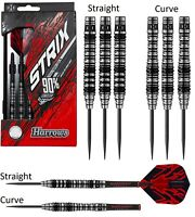 Harrows Strix 90% Tungsten Steel Tip Darts - Choose Straight or Curve Barrel