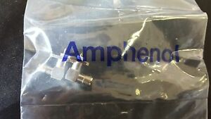 50x AMPHENOL 132267 , Connector RF SMA Right Angle Jack Solder Cup 50 Ohm 4-Hole