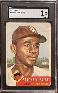 1953 Topps #220 Satchell Paige - SGC 1 New Label