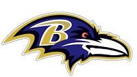 "Baltimore Ravens NFL Color Die Cut Vinyl Decal - You Choose Size 3""-34"""