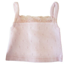 "Fits 18"" American Girl Doll Clothes Light Pink Lace Cami T-Shirt Camisole"