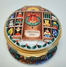 "Halcyon Days Enamels Rare ""Christmas 1991"" Trinket Box"