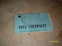1973 Chevrolet Chevy Owners Manual Owner's Guide Book Original Impala Caprice GM