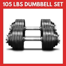 New 105 Lb Pair Adjustable Weight Dumbbells Set Dumbells, FREE SAME DAY SHIPPING