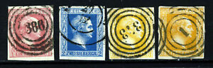 PRUSSIA GERMANY 1857 Small Head No watermark Set SG 9 to SG 13 VFU