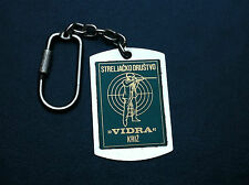 EXTRA RARRE - CROATIA - OLD KEYCHAINS - Shooting Club - VIDRA - KRIŽ !!!