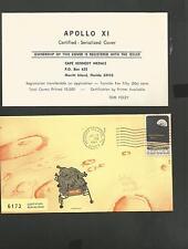 APOLLO 11 CERTIFIED SERIALIZED COVER LIMITED JUL 19,1969 MERRITT ISLAND FL