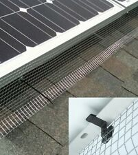 0.2m x 30m Galvanised Mesh for Pigeon Bird Proofing of Solar Panels & Clips