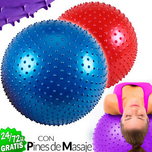 Ball Of Pilates Fitball Fitness Exercise Gymnastics Yoga Blue Red 25 5/8in