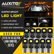 10x White Error Free T10 LED 2835smd Interior Wedge Light Bulb W5W 194 168 2825