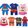 Recién Nacido Niños Bebé Niñas Cartoon Superheroes Pelele Mono Body Disfraz