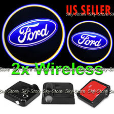2x Wireless Ghost Shadow Laser Projector Logo LED Door Step Light Courtesy FORD