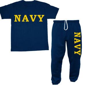 US Navy sweatpants t-shirt set gift idea for him decal tee sweats USN decal