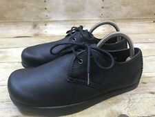 Earth Kalso Men Size 7 Black All Leather Comfort Shoes Oxfords Lace Up