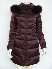 1 Madisen Puffer Bronze Coat XS Fox Fur Down Feather Optional Hood Quilted Warm