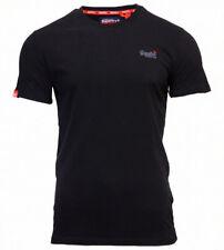 Superdry Mens New Orange Label Vintage Embroidered Crew Neck T Shirt Black