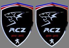 2 adhésifs sticker noir chrome PEUGEOT RCZ (idéal ailes avant)