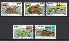 Animaux Faune sauvage Cambodge (134) complète 5 timbres oblitérés