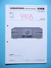 Service Manual for Grundig CCF 310 ,ORIGINAL