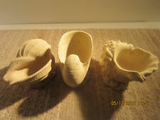 Set Of 3, Decorative Seashell Sand Sculptures