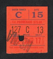 1974 Joe Frazier vs Jerry Quarry boxing ticket Mike Rossman Soto Freel Kinsey