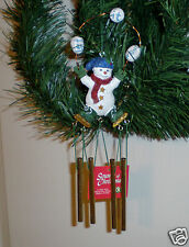 """1999 Sounds Of Christmas Mini Chime & Ornament """"Snowman"""" Hand-Painted NIB"""