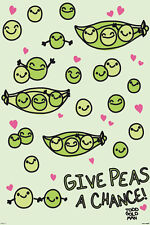 HUMOR POSTER Give Peas A Chance Todd Goldman