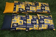 Cornhole Bean Bags Set of 8 Aca Regulation Bags Nashville Predators Free Ship!