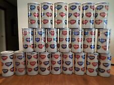 Lot of 22 India Puerto Rico Mayaguez Fan Pull Tab top Straight Steel Beer Can
