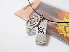Anime Naruto Shippuden Konoha mark/leaf mark double metal pendants necklace!