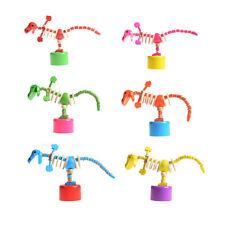 1 Pcs Wooden Rocking Dinosaur Colorful Thumb Barrel Dancing Baby Kids Toy ATAU
