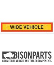 """* AUTOVEICOLI pre 1996 posteriore Marker BOARD """"Wide Veicolo"""" IN ALLUMINIO BP76-166"""